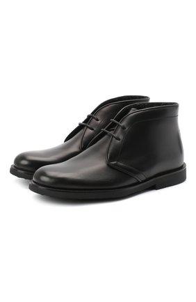 Детские кожаные ботинки RONDINELLA черного цвета, арт. 11755C/662/34-36 | Фото 1
