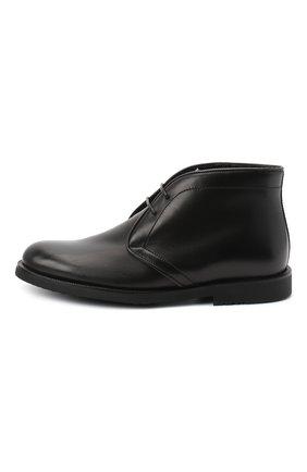 Детские кожаные ботинки RONDINELLA черного цвета, арт. 11755C/662/34-36 | Фото 2