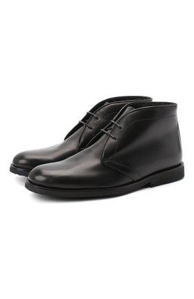Детские кожаные ботинки RONDINELLA черного цвета, арт. 11755C/662/37-39 | Фото 1