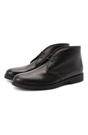 Детские кожаные ботинки RONDINELLA черного цвета, арт. 11755C/662/40-42 | Фото 1