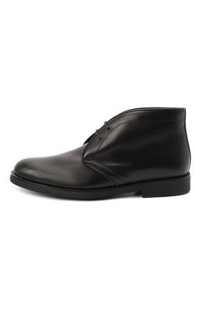 Детские кожаные ботинки RONDINELLA черного цвета, арт. 11755C/662/40-42 | Фото 2