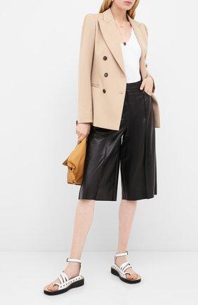 Женские кожаные шорты DROME черного цвета, арт. DPD1991P/D400P | Фото 2