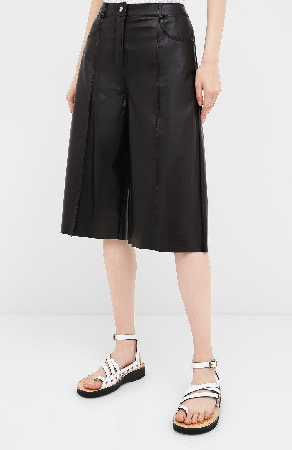 Женские кожаные шорты DROME черного цвета, арт. DPD1991P/D400P | Фото 3