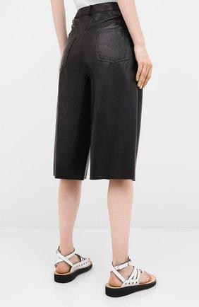 Женские кожаные шорты DROME черного цвета, арт. DPD1991P/D400P | Фото 4