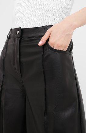 Женские кожаные шорты DROME черного цвета, арт. DPD1991P/D400P | Фото 5
