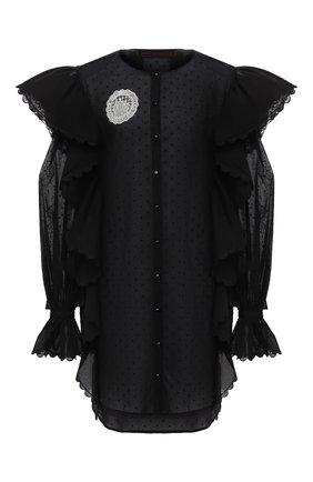 Женское хлопковое платье ULYANA SERGEENKO черного цвета, арт. ABC002SS20P (0155т20) | Фото 1