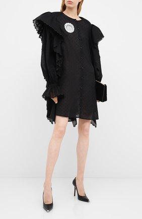 Женское хлопковое платье ULYANA SERGEENKO черного цвета, арт. ABC002SS20P (0155т20) | Фото 2