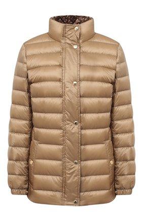 Женская пуховая куртка paisley BURBERRY бежевого цвета, арт. 8026501 | Фото 1