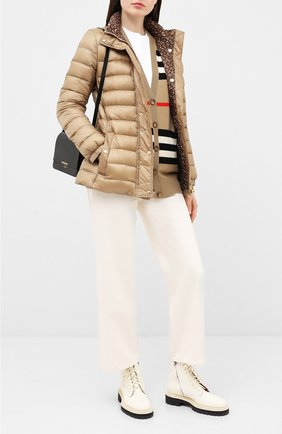 Женская пуховая куртка paisley BURBERRY бежевого цвета, арт. 8026501 | Фото 2