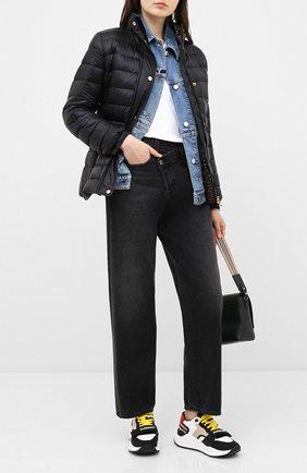 Женские комбинированные кроссовки kensington BURBERRY разноцветного цвета, арт. 8028580 | Фото 2 (Подошва: Платформа; Материал внешний: Текстиль; Материал внутренний: Натуральная кожа, Текстиль)