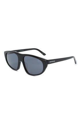 Мужские солнцезащитные очки BALENCIAGA черного цвета, арт. 621645/T0001 | Фото 1