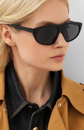 Мужские солнцезащитные очки BALENCIAGA черного цвета, арт. 621645/T0001 | Фото 2