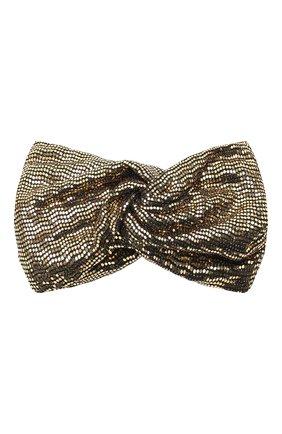 Женская повязка на голову GUCCI черного цвета, арт. 623142/3GF41 | Фото 1