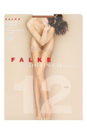 Женские капроновые чулки shelina FALKE бежевого цвета, арт. 41529_ | Фото 1