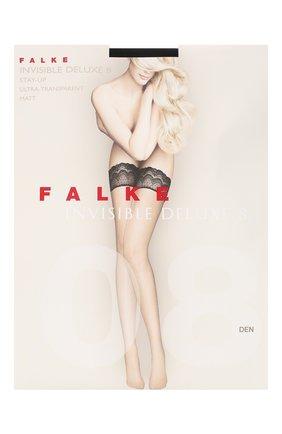 Женские капроновые чулки invisible deluxe FALKE черного цвета, арт. 41560_ | Фото 1