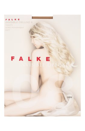 Женские капроновые колготки invisible deluxe FALKE бежевого цвета, арт. 40610_ | Фото 1