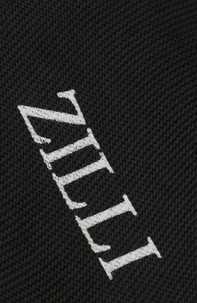 Мужские шелковые носки ZILLI черного цвета, арт. MGQ-BLISS-0S0IE/C001 | Фото 2