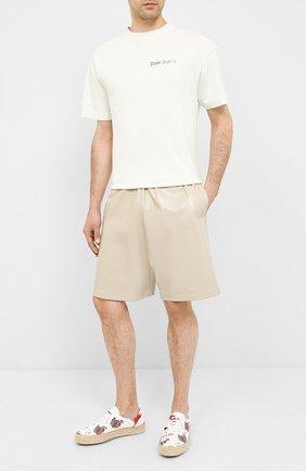 Мужские текстильные кеды LANVIN белого цвета, арт. FM-FSLVC0-CACL-A20 | Фото 2