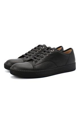 Мужские кожаные кеды LANVIN черного цвета, арт. FM-SKDBB1-LY0N-A20 | Фото 1