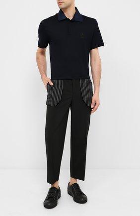 Мужские кожаные кеды LANVIN черного цвета, арт. FM-SKDBB1-LY0N-A20 | Фото 2