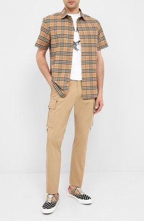 Мужские текстильные кеды BURBERRY разноцветного цвета, арт. 8027423 | Фото 2