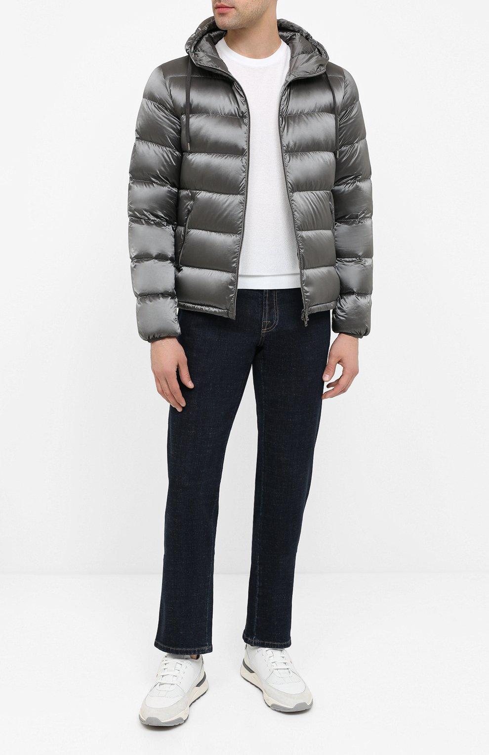 Мужская пуховая куртка HERNO серого цвета, арт. PI060UR/12344 | Фото 2
