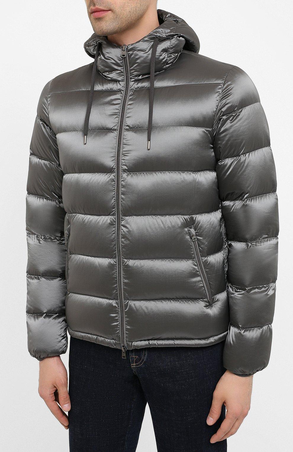Мужская пуховая куртка HERNO серого цвета, арт. PI060UR/12344 | Фото 3