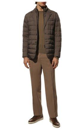 Мужская пуховая куртка HERNO темно-бежевого цвета, арт. PI001ULE/19288 | Фото 2