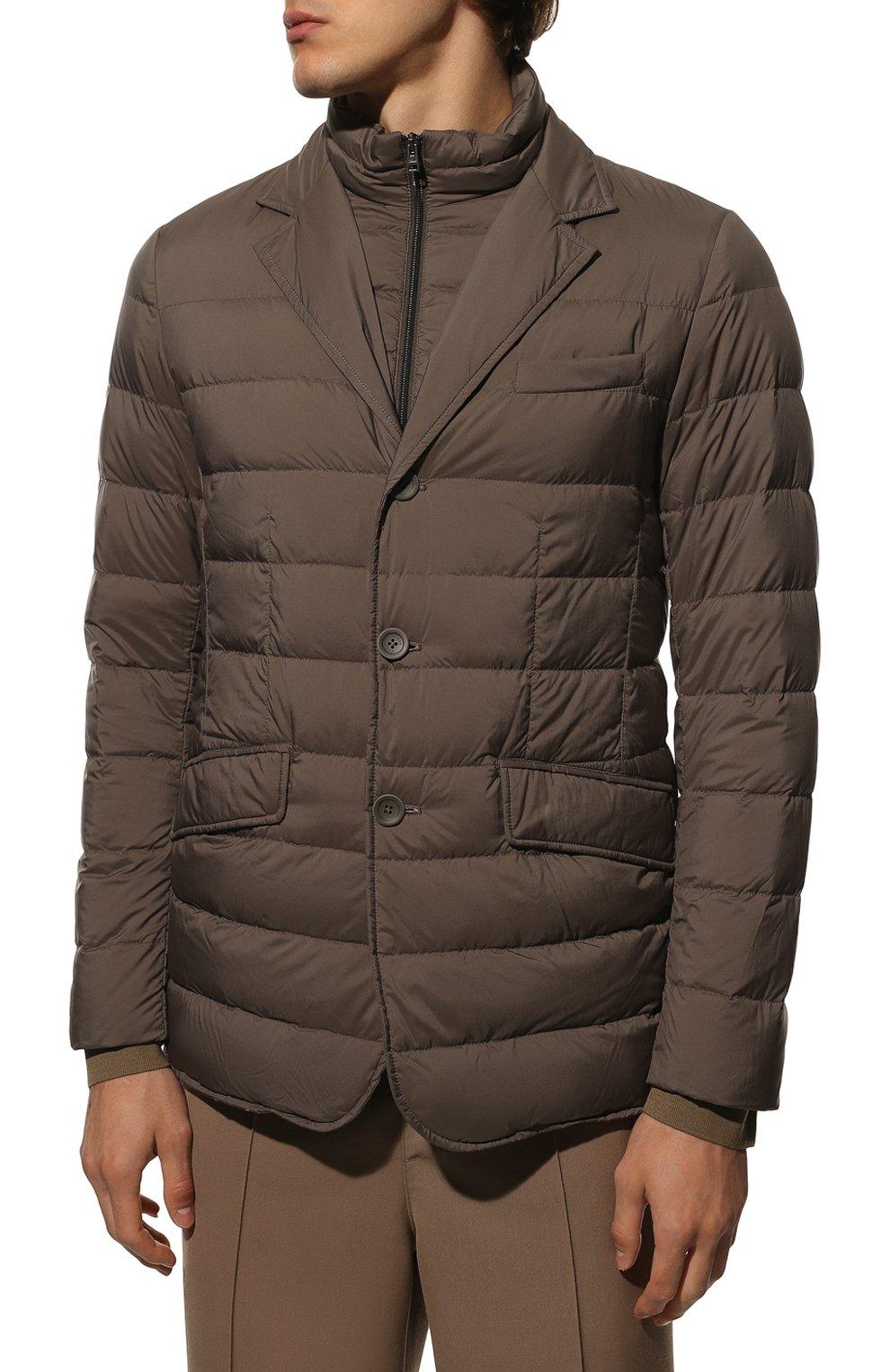 Мужская пуховая куртка HERNO темно-бежевого цвета, арт. PI001ULE/19288 | Фото 3