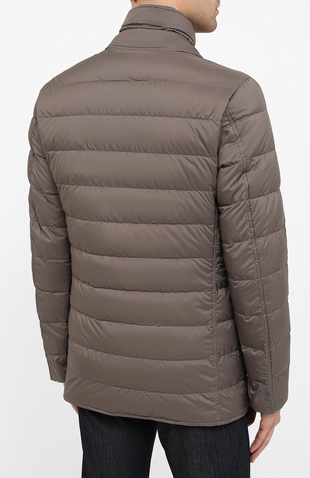 Мужская пуховая куртка HERNO темно-бежевого цвета, арт. PI001ULE/19288 | Фото 4