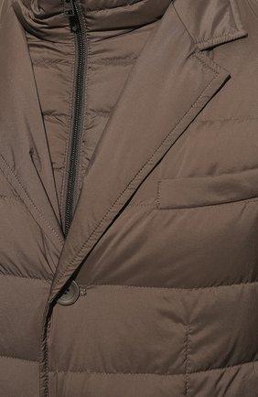 Мужская пуховая куртка HERNO темно-бежевого цвета, арт. PI001ULE/19288 | Фото 5