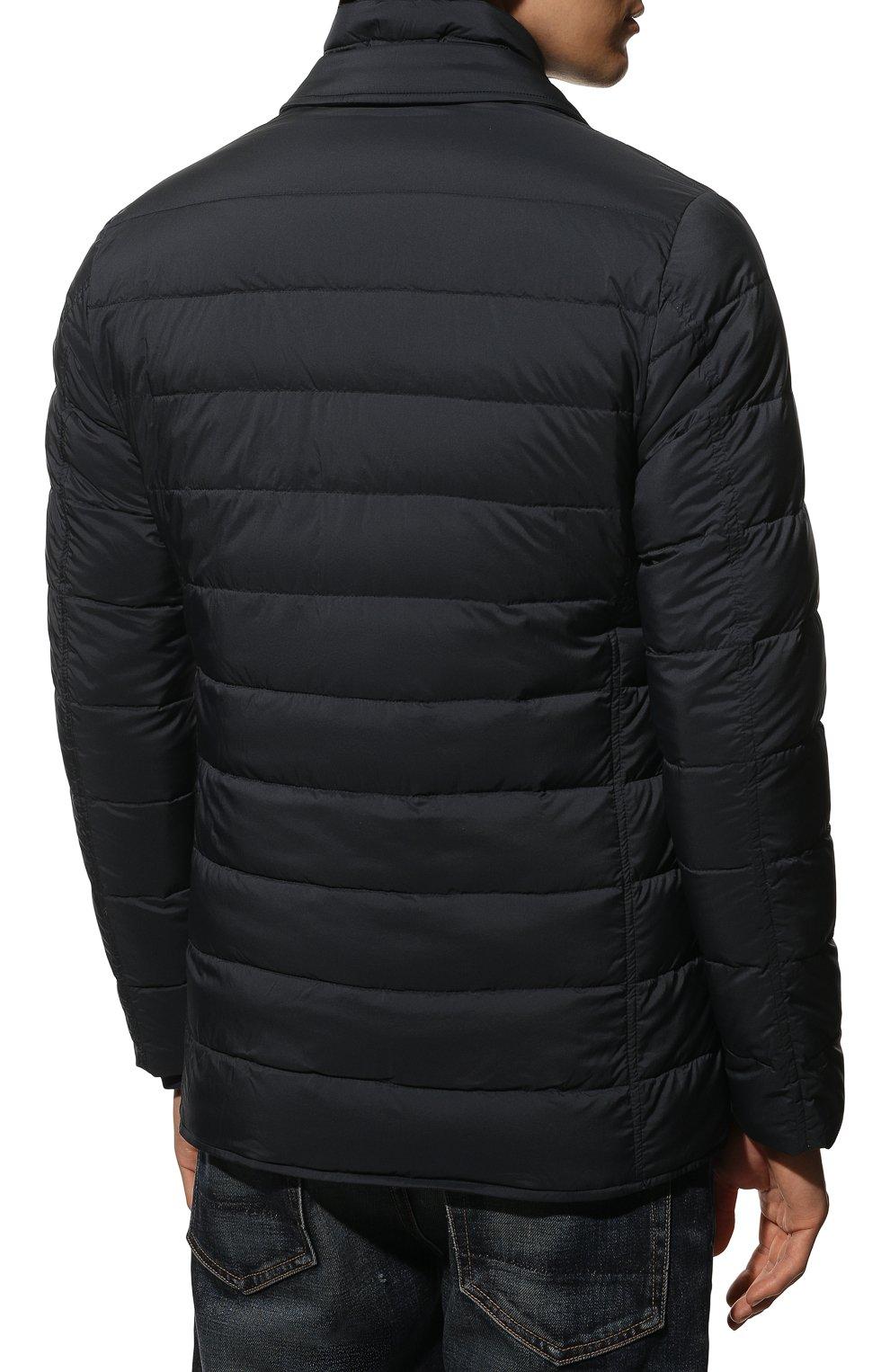 Мужская пуховая куртка HERNO синего цвета, арт. PI001ULE/19288 | Фото 4