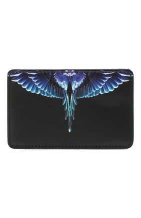 Мужской кожаный футляр для кредитных карт MARCELO BURLON черного цвета, арт. CMND008E20LEA001 | Фото 1