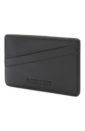 Мужской кожаный футляр для кредитных карт MARCELO BURLON черного цвета, арт. CMND008E20LEA001 | Фото 2