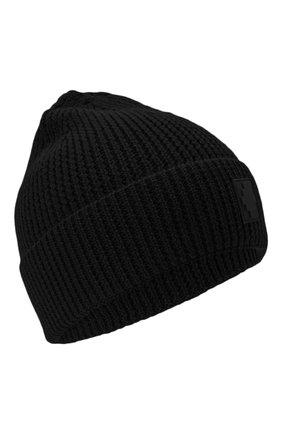 Мужская шапка MARCELO BURLON черного цвета, арт. CMLC007E20KNI002 | Фото 1