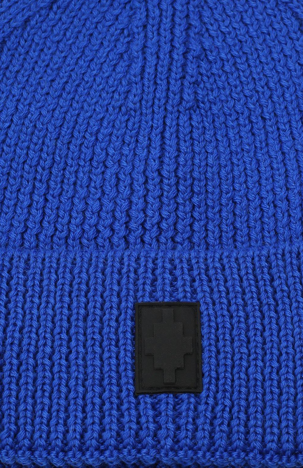 Мужская шапка MARCELO BURLON синего цвета, арт. CMLC007E20KNI002 | Фото 3