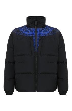 Мужская пуховая куртка MARCELO BURLON черного цвета, арт. CMED028E20FAB001 | Фото 1