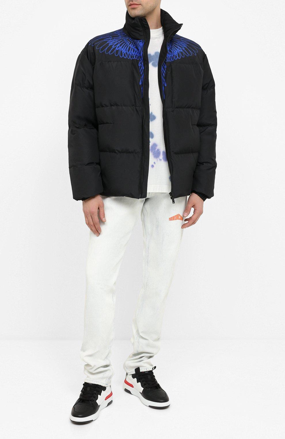 Мужская пуховая куртка MARCELO BURLON черного цвета, арт. CMED028E20FAB001 | Фото 2