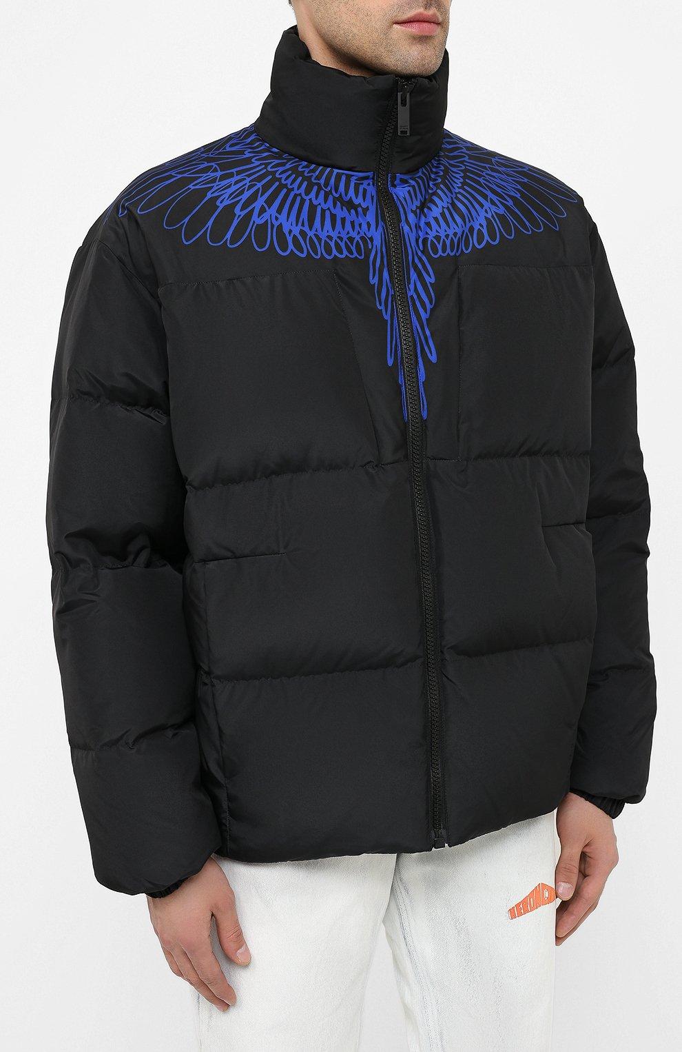 Мужская пуховая куртка MARCELO BURLON черного цвета, арт. CMED028E20FAB001 | Фото 3