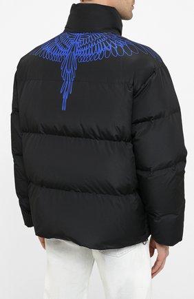 Мужская пуховая куртка MARCELO BURLON черного цвета, арт. CMED028E20FAB001 | Фото 4