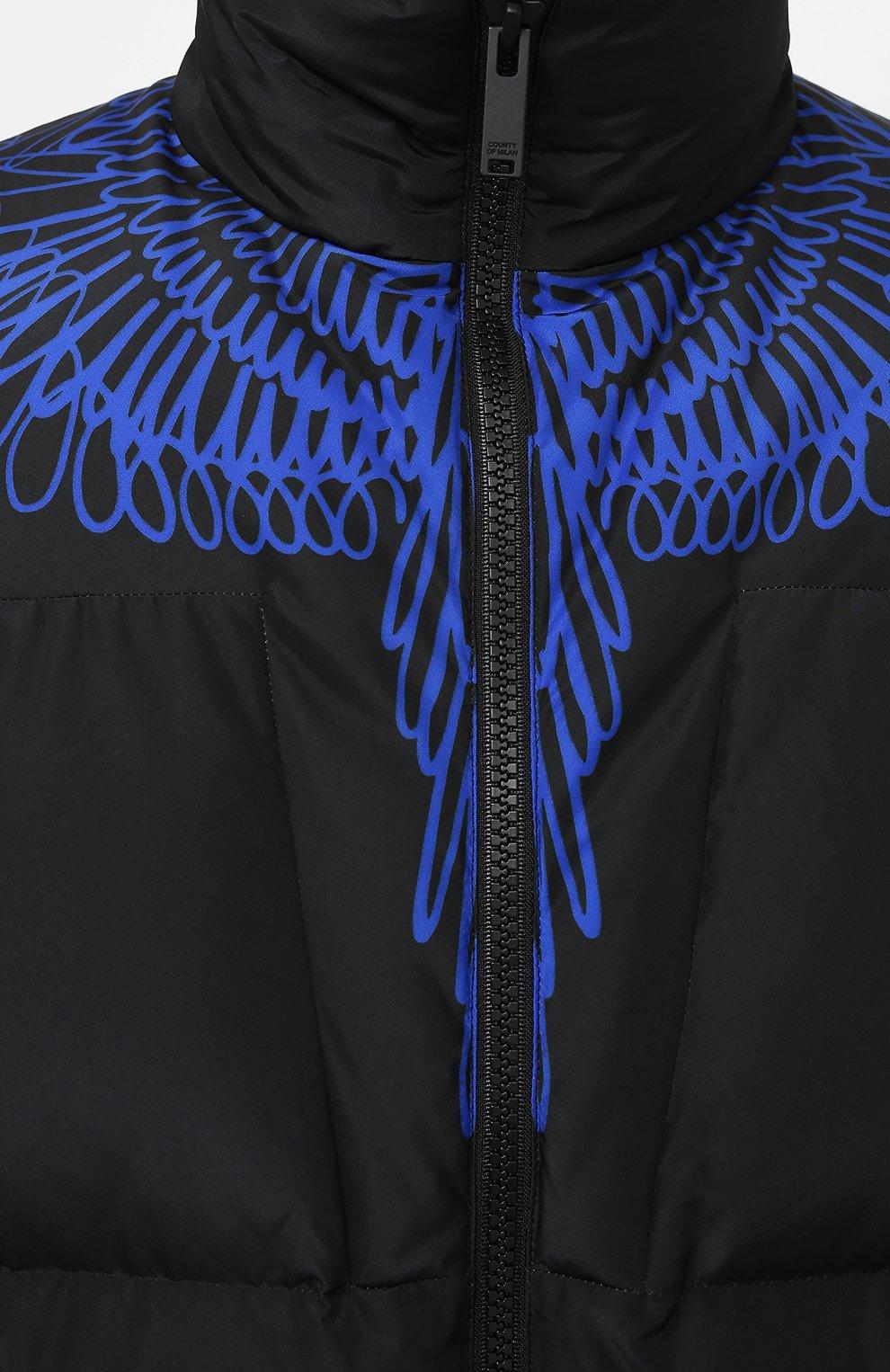 Мужская пуховая куртка MARCELO BURLON черного цвета, арт. CMED028E20FAB001 | Фото 5