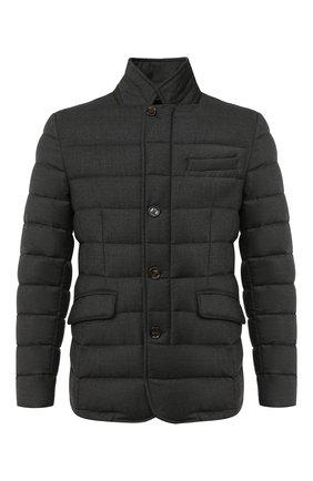 Мужская пуховая куртка zayn-l MOORER темно-серого цвета, арт. ZAYN-L/A20M040LANA | Фото 1