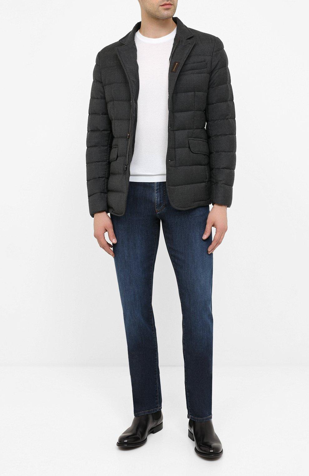 Мужская пуховая куртка zayn-l MOORER темно-серого цвета, арт. ZAYN-L/A20M040LANA | Фото 2