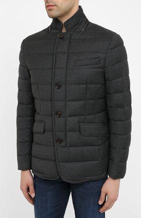 Мужская пуховая куртка zayn-l MOORER темно-серого цвета, арт. ZAYN-L/A20M040LANA | Фото 3