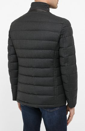 Мужская пуховая куртка zayn-l MOORER темно-серого цвета, арт. ZAYN-L/A20M040LANA | Фото 4