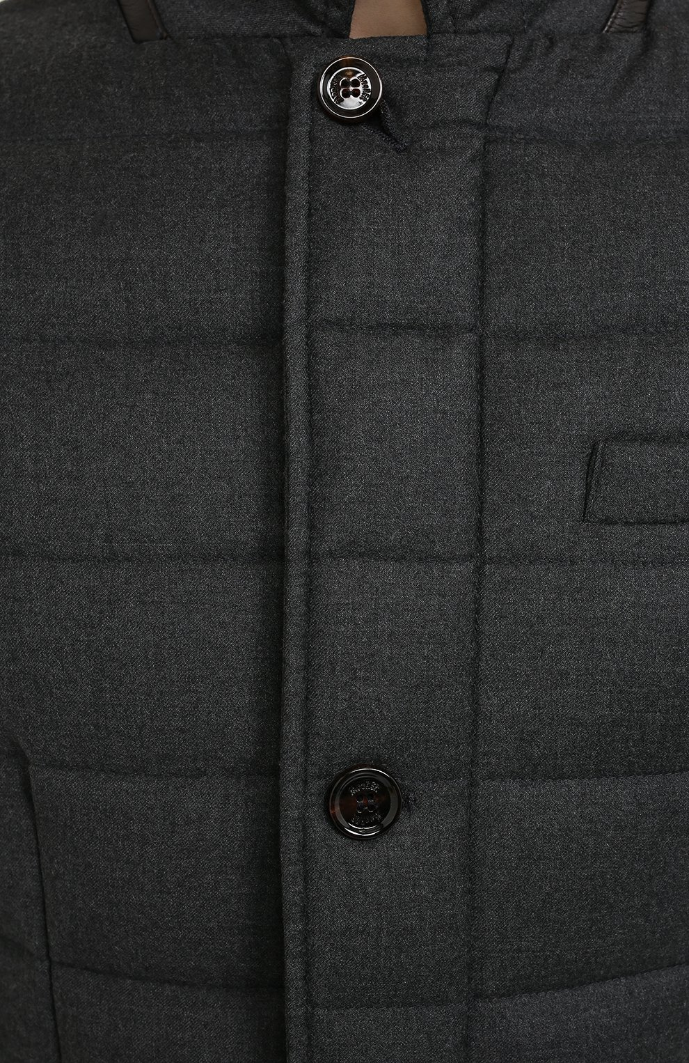 Мужская пуховая куртка zayn-l MOORER темно-серого цвета, арт. ZAYN-L/A20M040LANA | Фото 5