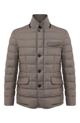 Мужская пуховая куртка zayn-l MOORER бежевого цвета, арт. ZAYN-L/A20M040LANA | Фото 1