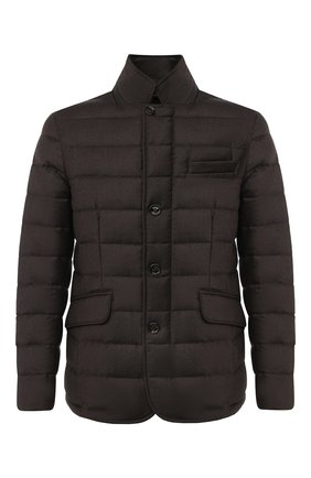 Мужская пуховая куртка zayn-l MOORER коричневого цвета, арт. ZAYN-L/A20M040LANA | Фото 1