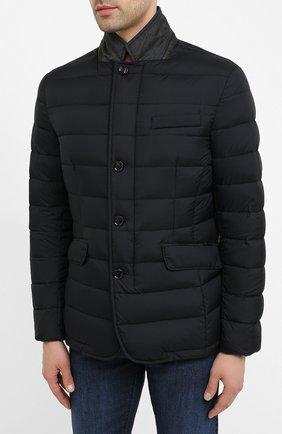 Мужская пуховая куртка zayn-op MOORER темно-синего цвета, арт. ZAYN-0P/A20M0410PAC | Фото 3