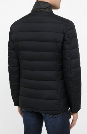 Мужская пуховая куртка zayn-op MOORER темно-синего цвета, арт. ZAYN-0P/A20M0410PAC | Фото 4
